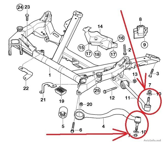 втулка рычага в поворотный кулак BMW e39