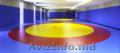 Борцовский ковер  с олимпийскими кругами 12м х 12м